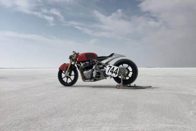 Modded RE Continental GT 650 Hits 241kmph At Bonneville