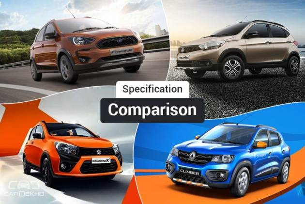 Tata Tiago NRG vs Maruti CelerioX, Ford Freestyle & Renault Kwid Climber: Spec Comparison