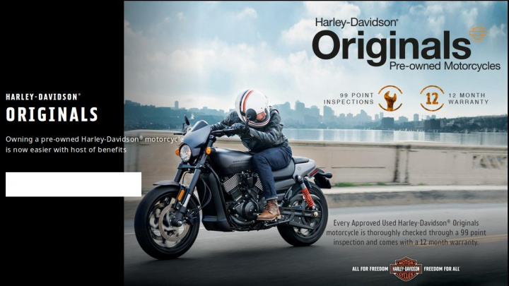 Harley-Davidson Enters Pre-Owned Motorcycle Segment