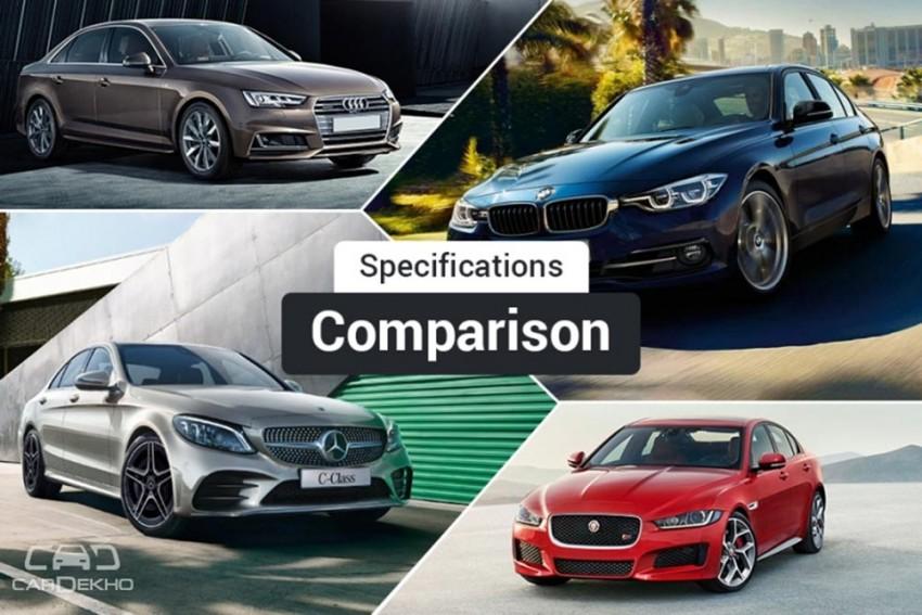 2018 Mercedes-Benz C-Class Facelift vs BMW 3 Series vs Audi A4 vs Jaguar XE: Spec Comparison