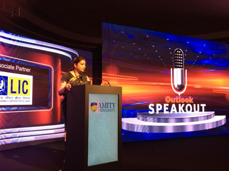 Outlook SpeakOut | Women Don't Have Problem Speaking Out, They Have Problem Being Heard: Smriti Irani