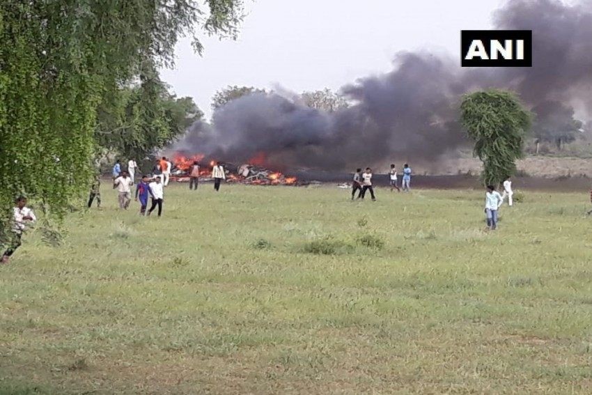IAF's MiG-27 Fighter Jet Crashes In Jodhpur, Pilot Ejects Safely