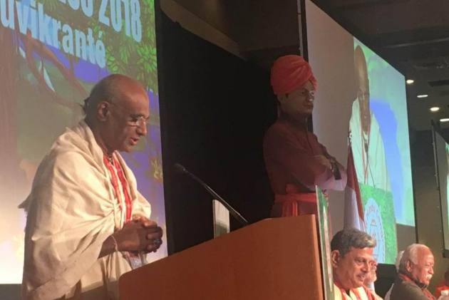'RSS Turn Around' Slogans Disrupt World Hindu Congress In Chicago