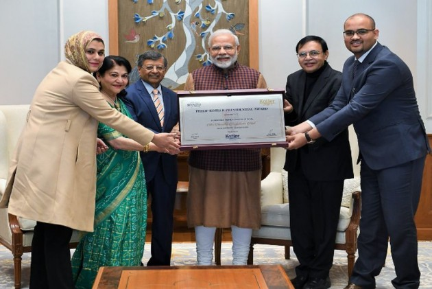 PM Modi Receives First-Ever Philip Kotler Award For Outstanding Leadership