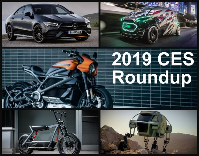 CES 2019 Roundup: The 12 Hottest Cars, Bikes & Tech To Drool Over