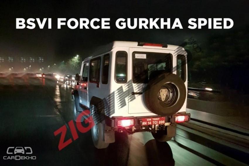 Force Gurkha Spied With BSVI Engine