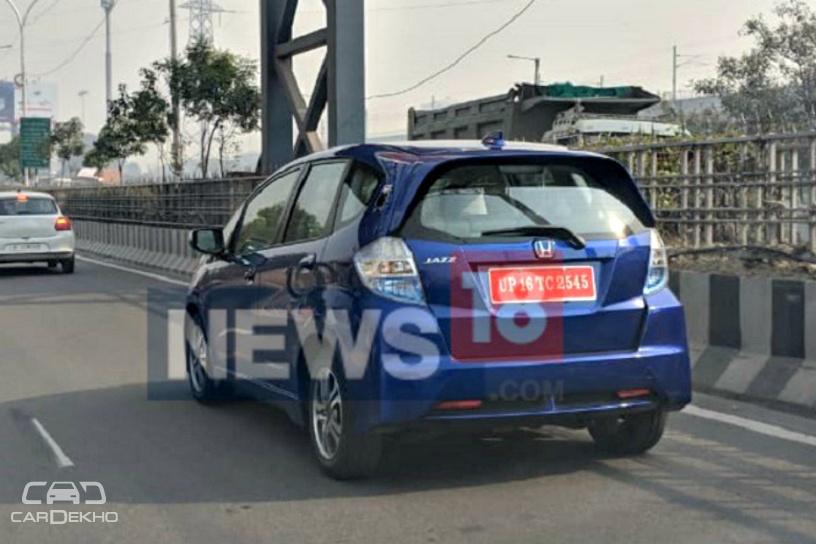 Honda Jazz EV Spotted Testing On Indian Roads