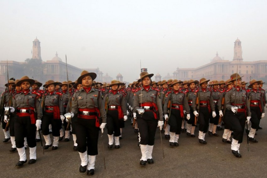Scripting History: All-Women Assam Rifles Contingent March Past Rajpath On Republic Day