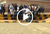 Watch: Photographer Falls At Bhubaneswar Airport, Rahul Gandhi Checks On Him