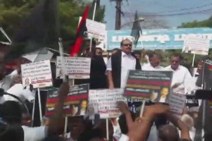 MDMK Stages Black Flag Demo Against PM Modi In Madurai