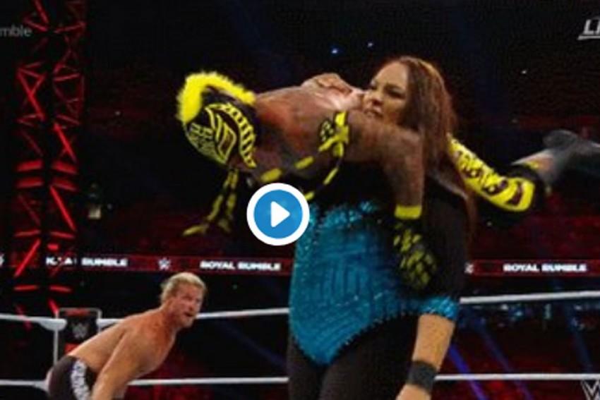 WATCH: Nia Jax Dominates Men's Royal Rumble Match