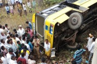 School Bus Carrying 50 Children Falls Into Culvert In Andhra, 3 Critical
