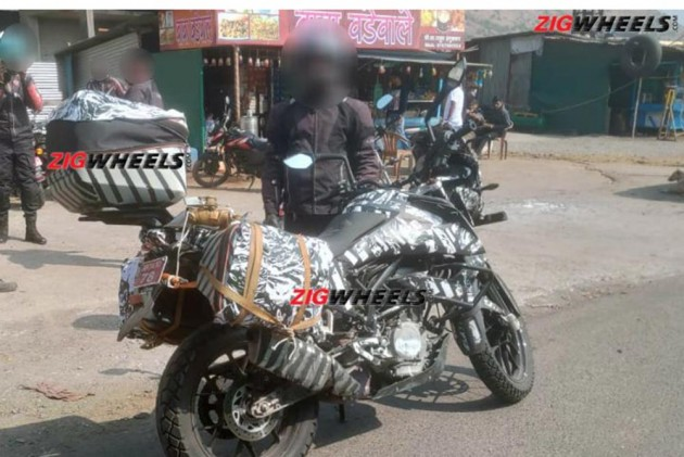 KTM 390 Adventure Spotted With Saddlebags And Top Box: EXCLUSIVE!