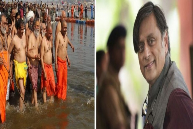 You Want To Keep Ganga Clean And Also Wash Sins There: Shashi Tharoor's Dig On Yogi Adityanath's Kumbh Dip