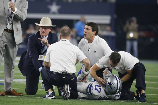 4b4a88f4d Dallas Cowboys  Allen Hurns Suffers Brutal Injury In Wild Card Game Against  Seattle Seahawks – VIDEO