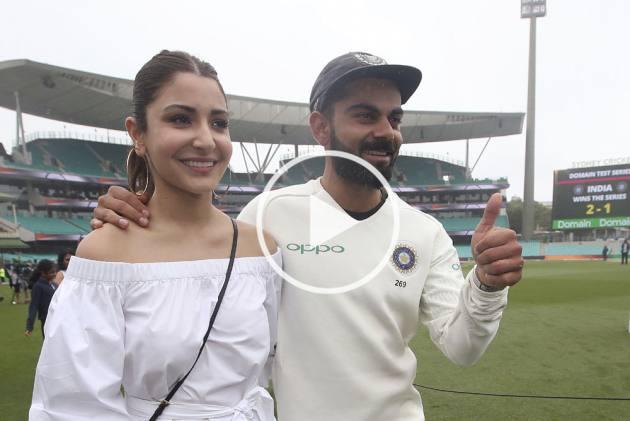 India's Tour Of Australia: Anushka Sharma Joins Husband Virat Kohli During SCG Celebration – WATCH
