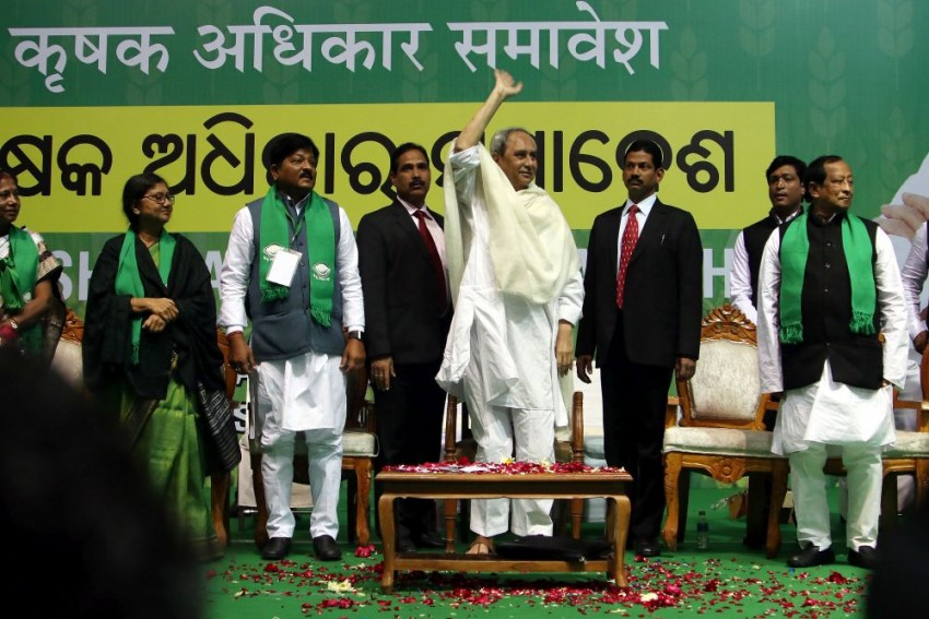 Odisha CM Naveen Patnaik Seeks Increase In MSP For Paddy, Stages Protest In Delhi