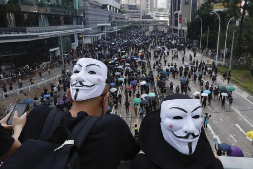 Hong Kong Protester Shot In Chest As China Marks 70 Years Of Communist Rule