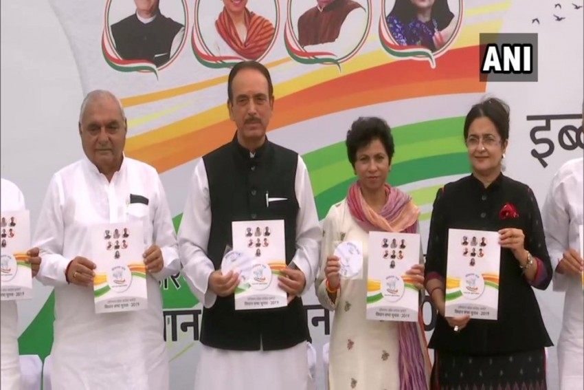 Haryana Polls: Congress Releases Manifesto; Promises Sops For Farmers, Women