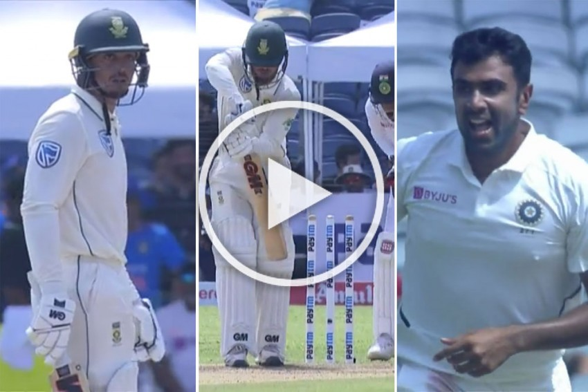 IND Vs IND, 2nd Test: Ravichandran Ashwin Leaves Quinton De Kock Shell-Shocked, Watch Magical Delivery - VIDEO