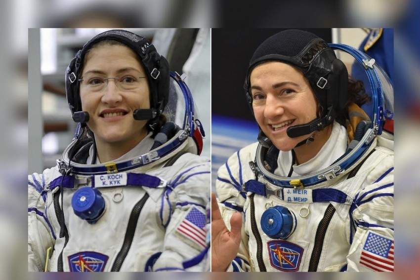 2 NASA Astronauts Create 'HerStory' By Becoming Part Of 1st All-Female Spacewalk