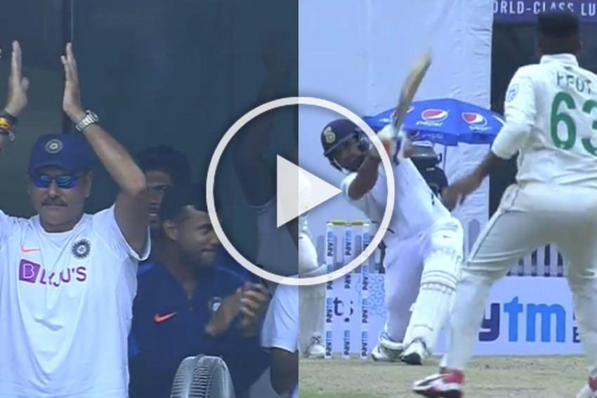 IND Vs SA, Ranchi Test: Rohit Sharma Reaches Third Century Of The Series With Gorgeous Six - VIDEO