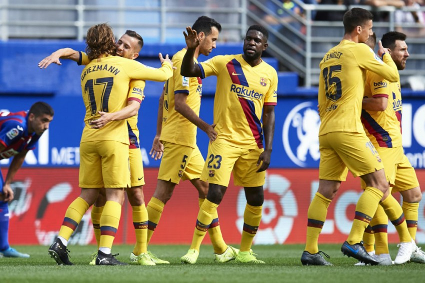 Eibar 0-3 Barcelona: Antoine Griezmann, Lionel Messi And Luis Suarez Ensure Frantic Week Ends In Comfortable Win