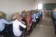 In Karnataka, Students Made To Wear Cartons During Exam To Avoid Cheating