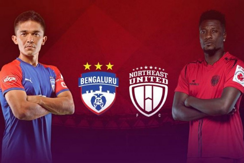ISL 2019-20, Match 2 RESULT: NorthEast United Play Out Goalless Draw With Defending Champions Bengaluru FC In Asamoah Gyan's ISL Bow
