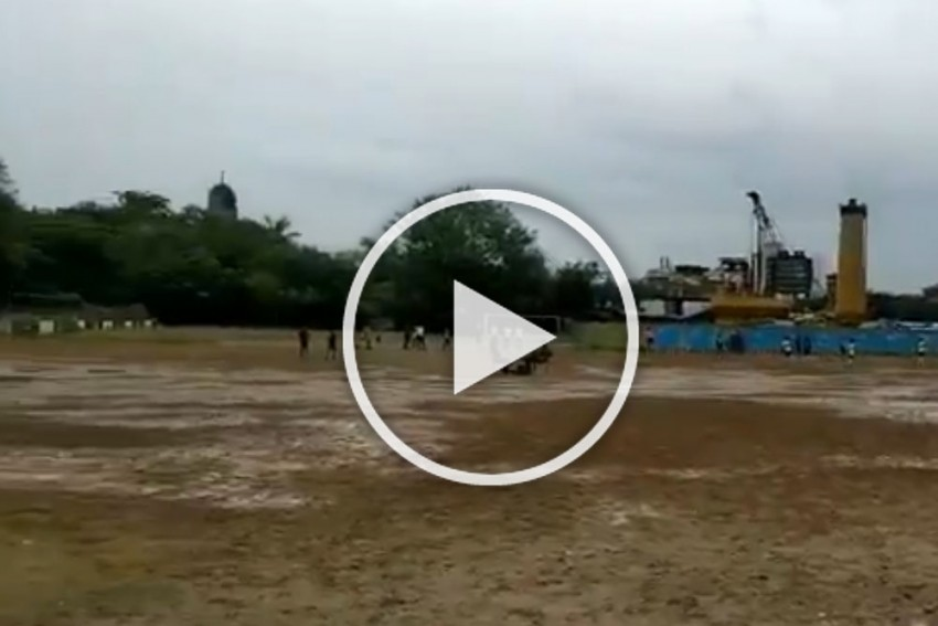 Is This A Battlefield? Horrible Playing Ground For Mumbai District Football Association's U12 Tournament: WATCH