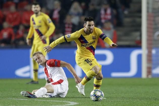 Lionel Messi Sets Champions League Record In Barcelona's Win Over Slavia Prague