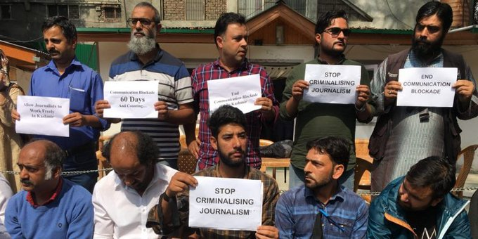 In Silent Protest, J&K Journalists Demand Communication Blockade To Be Lifted