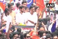 Amid Saffron Flags, Slogans And Drums, Shiv Sena's Aditya Thackeray Files Nomination