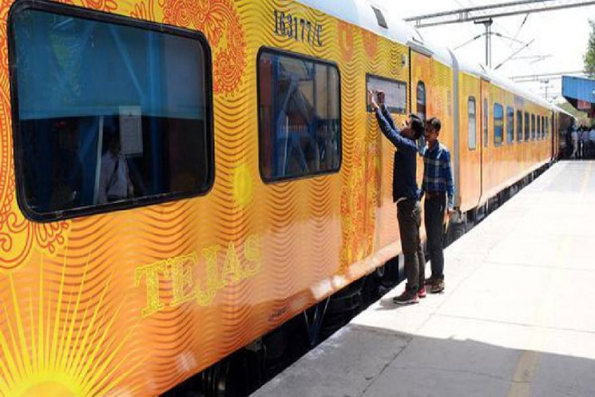 Yogi Adityanath Flags Off Country's First Private Train 'Tejas Express'