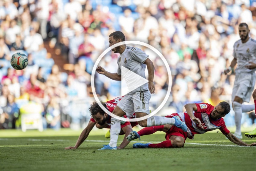 Eden Hazard Leaves A Trail Of Bodies While Opening His Real Madrid Account - WATCH