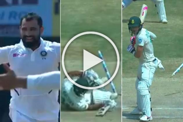IND Vs SA, 1st Test: Flying Stumps! Devastating Mohammed Shami Leaves Clueless South African Batsmen In Tatters - WATCH