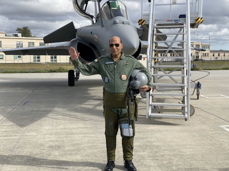 India Gets Its First Rafale Fighter Jet, Rajnath Singh Says 'Historic Day For IAF'