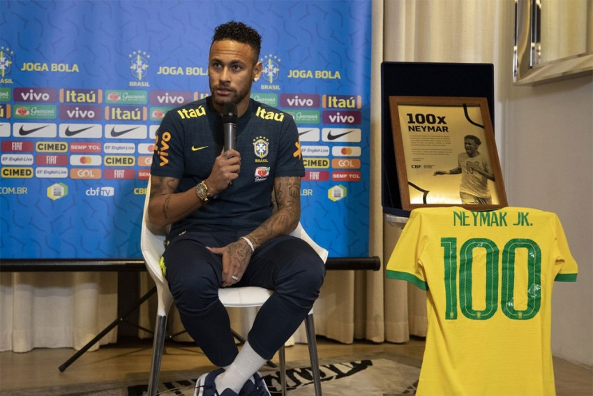 Neymar Ready For 100th International Cap, Says He's Happy In Brazil And PSG Teams