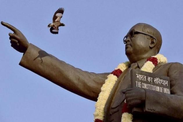 B R Ambedkar found damaged in UP.