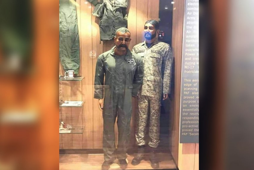 Pakistan Air Force Displays Wing Commander Abhinandan's Mannequin At War Museum