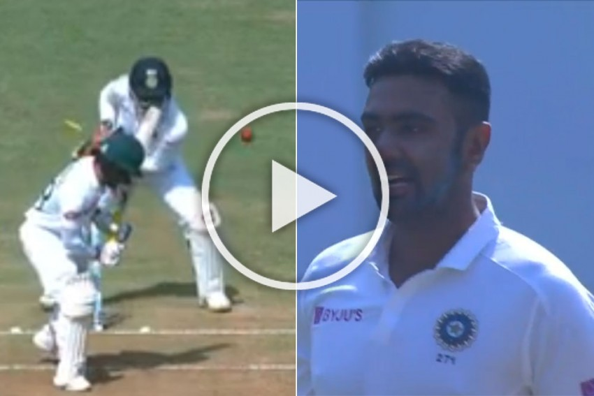 IND Vs BAN, Indore Test: Ravichandran Ashwin Reduces Mominul Haque To A Mere Spectator, Watch Magical Delivery - VIDEO