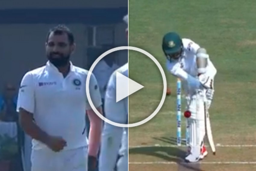 IND Vs BAN, Indore Test: Deadly Shami Delivery Forces Bangladesh Captain To Abandon Team-Mate - WATCH