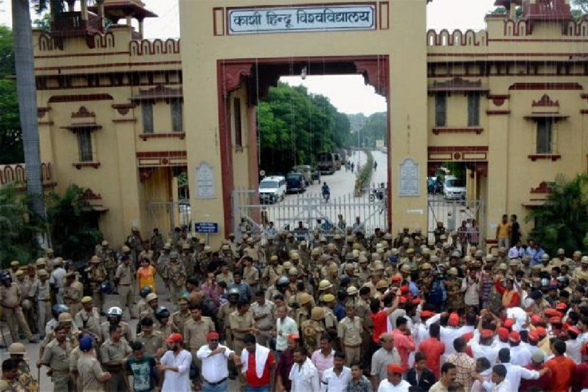Banaras Hindu University Official Booked, Forced To Quit For Removing RSS Flag