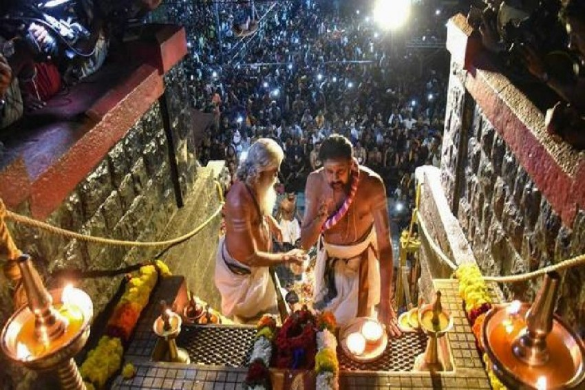 Amid Tight Security, Doors Of Sabarimala Temple Open For 2-Month Long Pilgrimage Season
