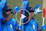 'Arrogant' Kid Prithvi Shaw's 'Talking Bat' Celebration Makes Fans Angry - VIDEO