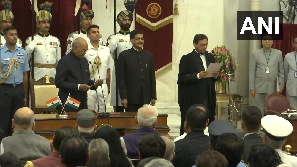 Justice S A Bobde Sworn-In As Chief Justice Of India