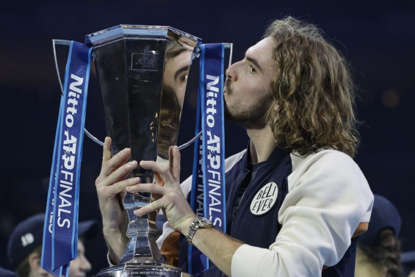 Stefanos Tsitsipas Overcomes Dominic Thiem In Thriller To Win ATP Finals Title