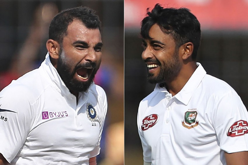 IND Vs BAN, Day-Night Test: Mohammed Shami Shares Trade Secrets With Bangladesh Pacer Abu Jayed