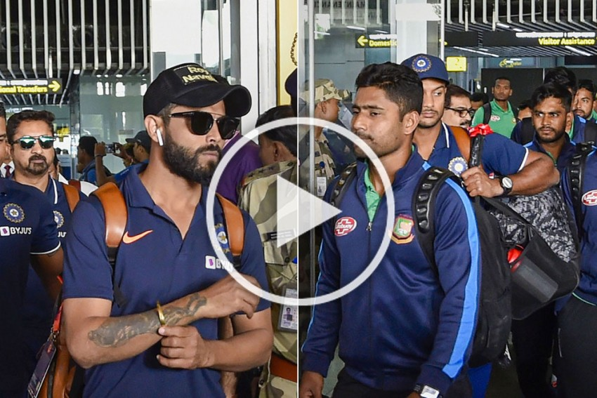 IND Vs BAN, Day-Night Test: Team India Arrives In Kolkata For The Historic Match, Gets Grand Reception - WATCH