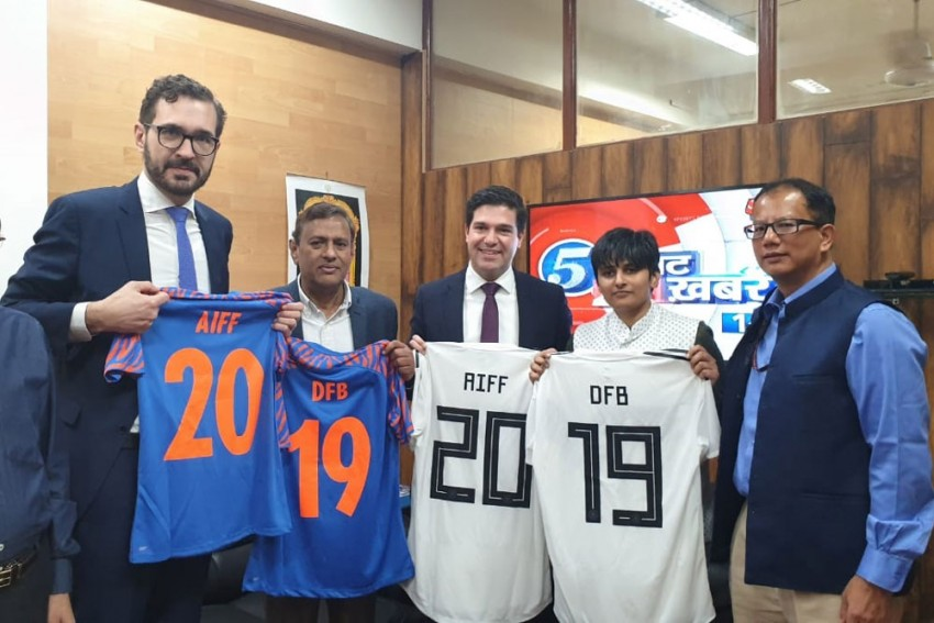 AIFF Signs MoU With German Football Association During Angela Merkel's India Visit